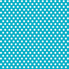 Quiver Full of Arrows Polka Dots in Turquiose_Blue