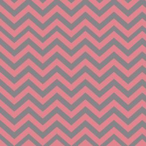 Dark Gray and Pink Chevrons