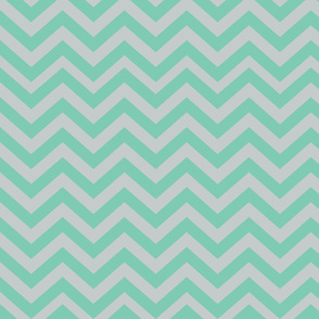 Light Gray and Green Chevrons