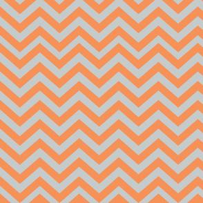 Light Gray and Orange Chevrons