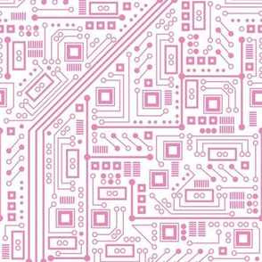 Robot Circuit Board (Pink and White)