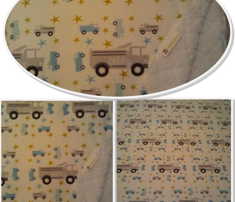 Truck star-gray -personalized horizontal
