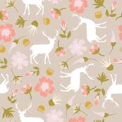 stag in flowers // geranium