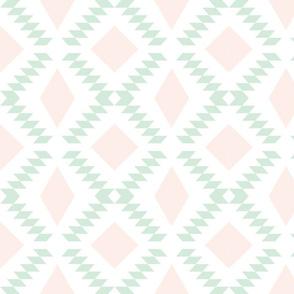 pale pink + mint diamond fall