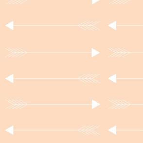 blush horizon arrows // large
