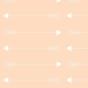 blush horizon arrows // large