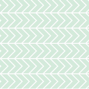 mint chevron // on the side