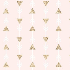 pale pink climbing arrows + gold glitter v. I // small