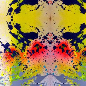 Exploding Paint Graffiti Print