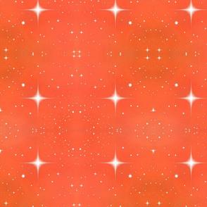 Stars on Orange Coral