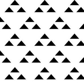 triangle triad in black and white