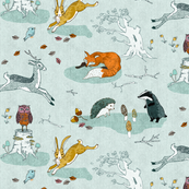 Hogs under hedges + foxes on copses (SMALL)