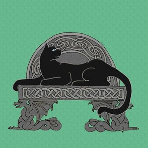 celt cat dragon bench 1 black