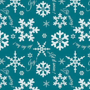 Let It Snow Teal