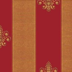 gold_and_red_fleur_de_lis_2_inch_stripe
