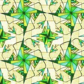 Floral Chevron Geometrica