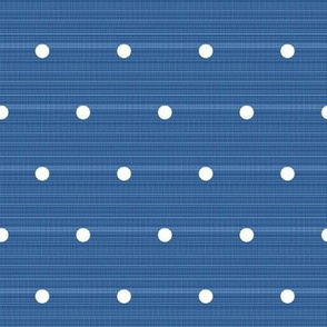 Sailor blue denim polka dots
