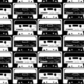 miniversions black and white cassettes