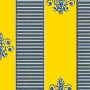 french_provence__fleur_de_lis_2_inch_stripe