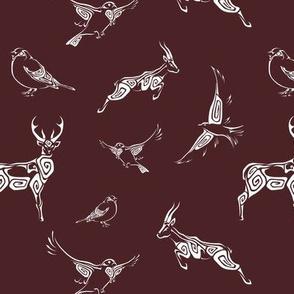 Swirl Animals - Merlot