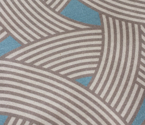 Modern Scandinavian Blue Pastel Curve Graphic