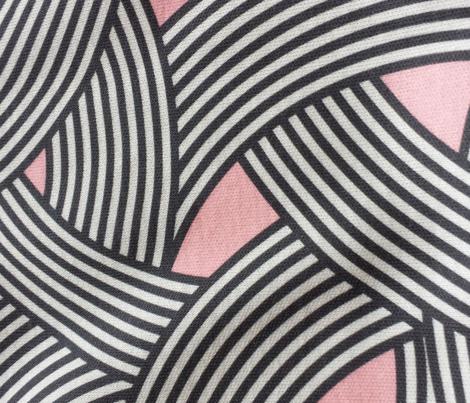 Modern Scandinavian Pink Black Curve Graphic