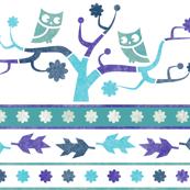 owl tree stencil