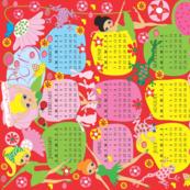 Personalized tea towel calendar