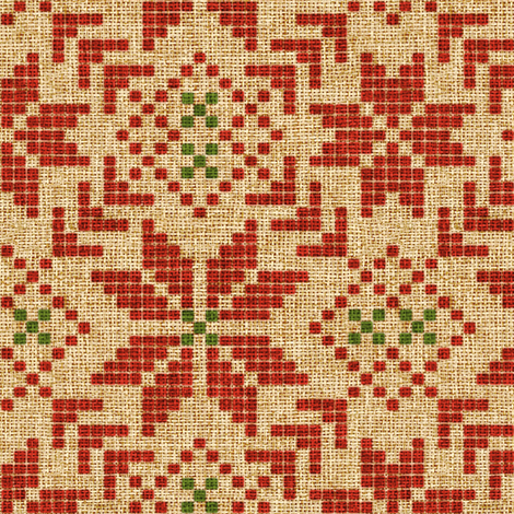 holiday fair isle in christmas burlap fabric