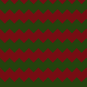 Christmas Chevron in Red and Green