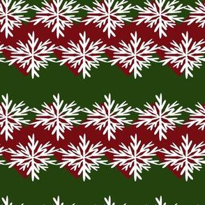 Christmas Chevron Snowflake