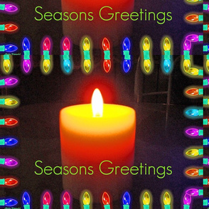 Season's Greetings Candle