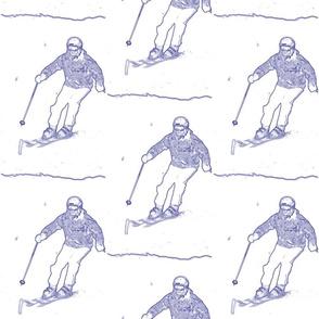 Skier Toile De Jouy