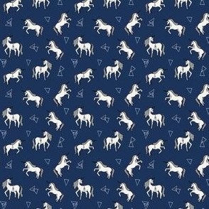 Unicorn Love - Navy background (Mini Version)  by Andrea Lauren