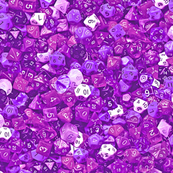 a sea of purple dice (var. 1)
