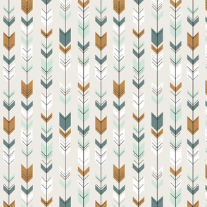 fletching arrows (small scale) // mint and teal coordinates
