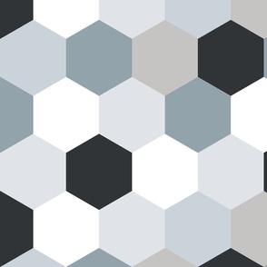 Wholecloth Hexi Quilt Top // Neutrals