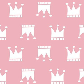 White Crown on Pink