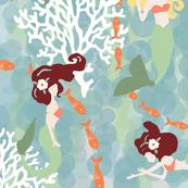 Coralfourpiecesmermaid