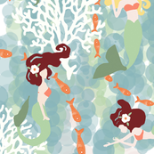Mermaids with White Coral