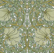 William Morris ~ Pimpernel ~ Original on White