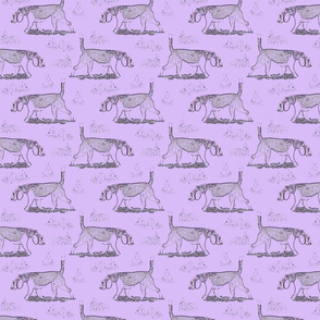 Beagles and bunnies - purple