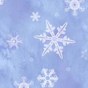 Watercolor snowflakes