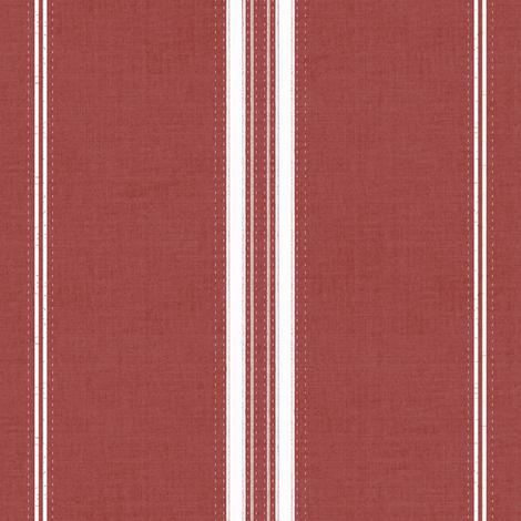 Custom - French Ticking Stripe Red