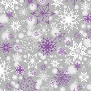 Amethyst Snowscape