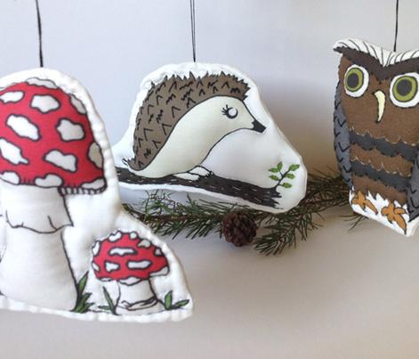 Woodland Plush Toy & Ornament Set