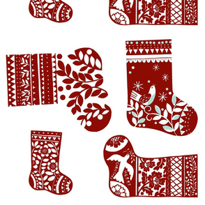 Christmas Stockings - Red