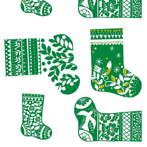 Christmas Stockings - Green