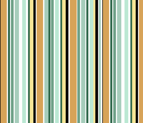 Dinosaurs_Teals_and_golds_on_white_stripe