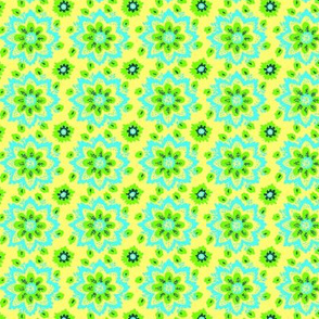 Star flower aqua lime